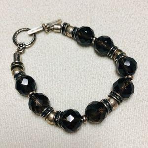 Jewelry - Silver and black bracelet
